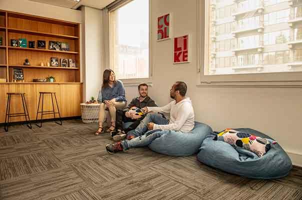 Campus lounge area