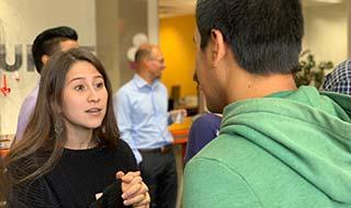 Students praticing conversation